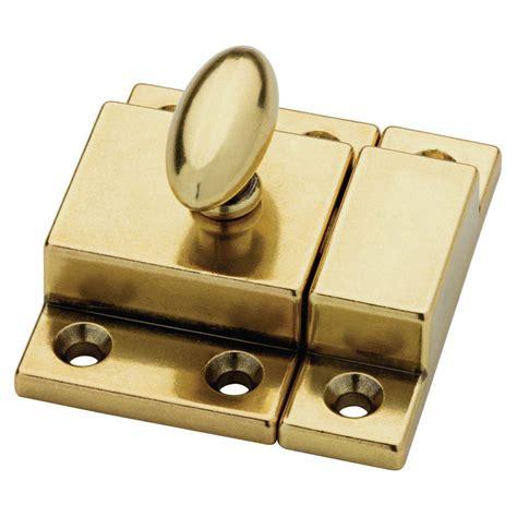 Kitchen Cabinet Latch Hardware Martha Stewart Living 2 In Bedford Brass Matchbox Door Latch Shop Your Way Shopping