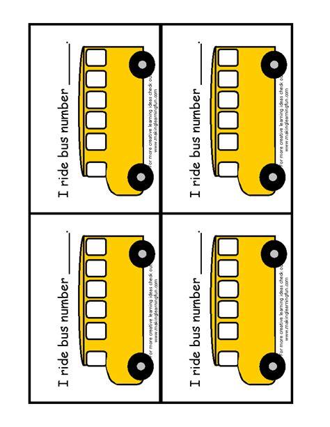 printable bus tags school bus name tags print th