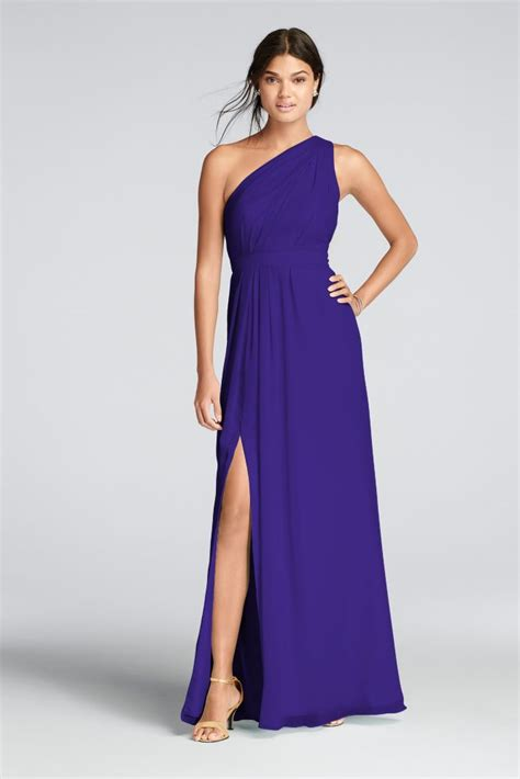 one shoulder chiffon dress style f18055 ebay