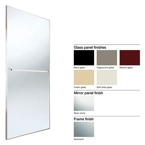 Made To Measure Sliding Mirror Wardrobe Doors by Made To Measure Minimalist 2 Panel Glass Mirror Sliding