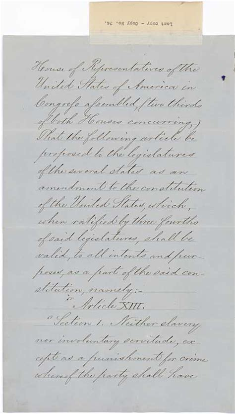 13th amendment section 2 constitution proclamation of the ratification of the