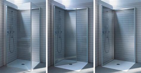 bodengleiche dusche mit wegklappbaren glastüren openspace eine dusche zum quot wegklappen quot