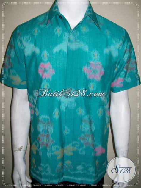 Kemeja Batik Blok Warna Biru Muda kemeja tenun lengan pendek warna hijau untuk anak muda dan remaja gaul ld701n m toko batik