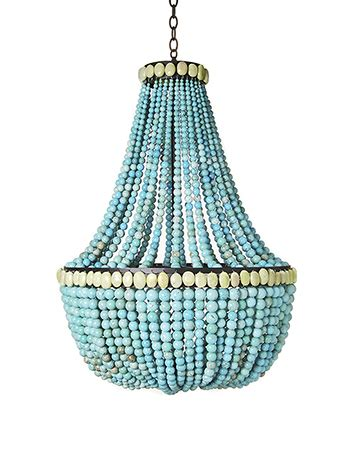 Make A Turquoise Beaded Chandelier Dollar Store Crafts How To Make Beaded Chandelier