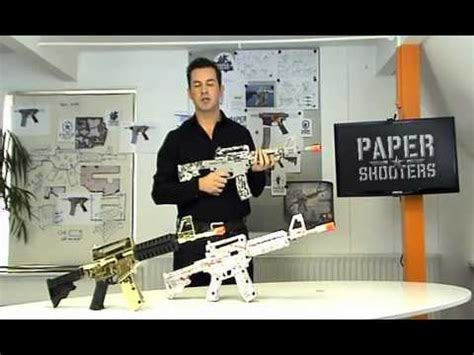 How To Make Paper Weapons That Work - paper shooters cardboard guns that shoot