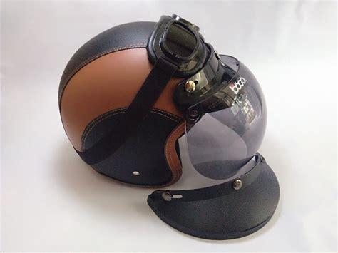 Helm Bogo Kaca Cembung Hitam harga jual helm bogo dipalembang helm bogo retro polos