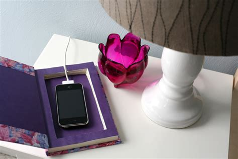 diy wireless phone charging station caught on a whim diy book it cell phone charging station
