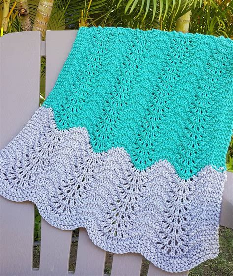 feather and fan knitting pattern on the go baby blanket knitting patterns in the loop