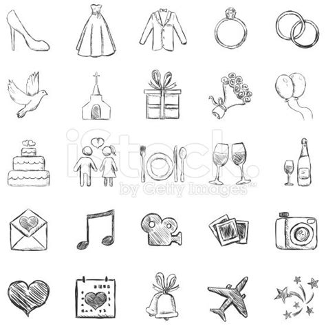 doodle draw icon pack apk vector set of sketch weddings icons lizenzfreie stock
