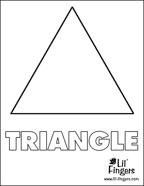 triangle coloring pages for toddlers triangle coloring pages getcoloringpages com