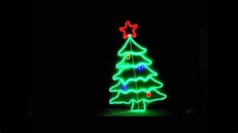 neon christmas lights 105cm neon led tree ropelight display