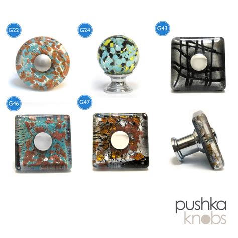 Pushka Door Knobs murano glass cupboard door knob by pushka home