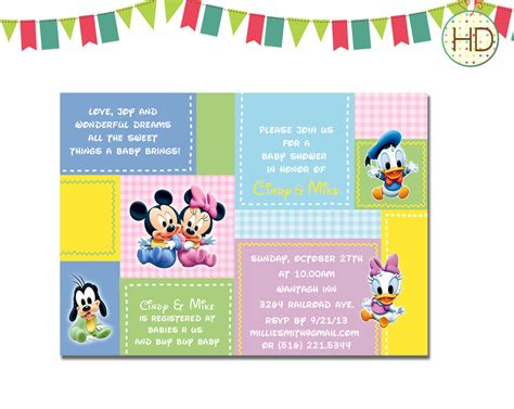Disney Baby Shower by Disney Baby Shower Invitation Disney Castle Baby By