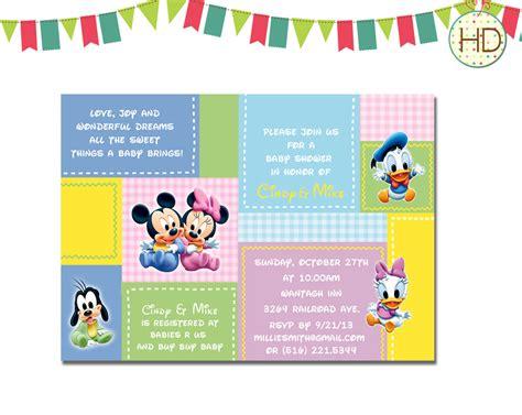 Disney Baby Shower Invitation Disney Castle Baby by
