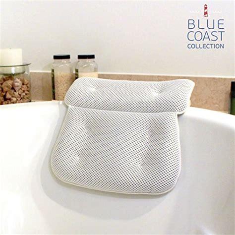 bathtub back pillow blue coast collection bath pillow for tub with konjac