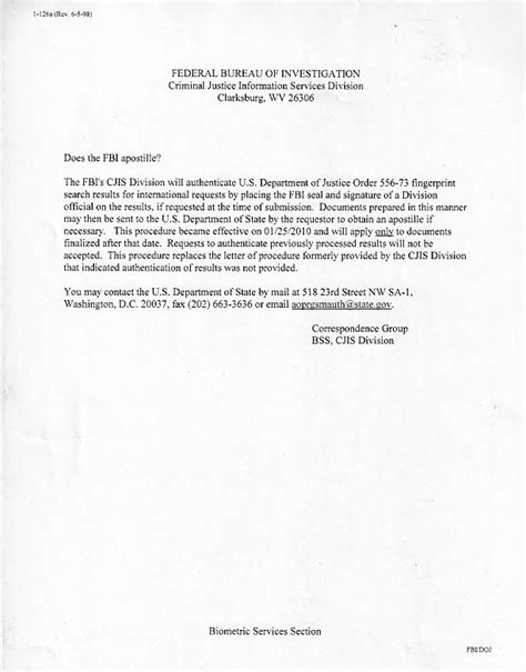 cover letter for apostille request foreign er fbi present