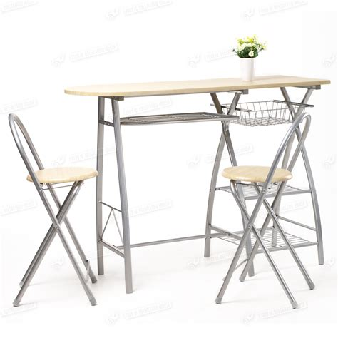 breakfast kitchen bar table and 2 stools chairs seat
