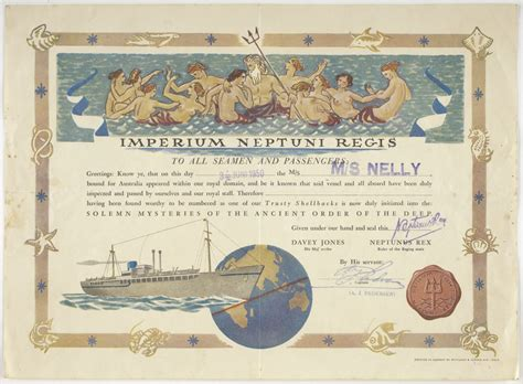 certificate crossing the equator ms nelly wittusen