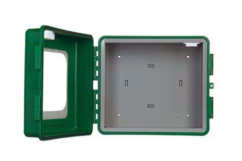 wandschrank defibrillator robuster outdoor wandschrank f 252 r aed defibriallator mit