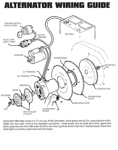 vw generator to alternator conversion wiring diagrams