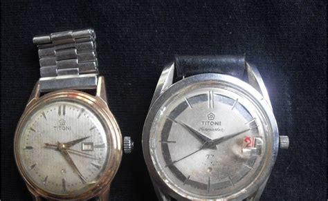 Jam Tangan Klasik Titoni Titoflex koleksi barang antik sepasang arloji titoni