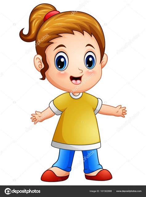 desenho menina desenho de menina feliz vetor de stock 169 dualoro 161302888