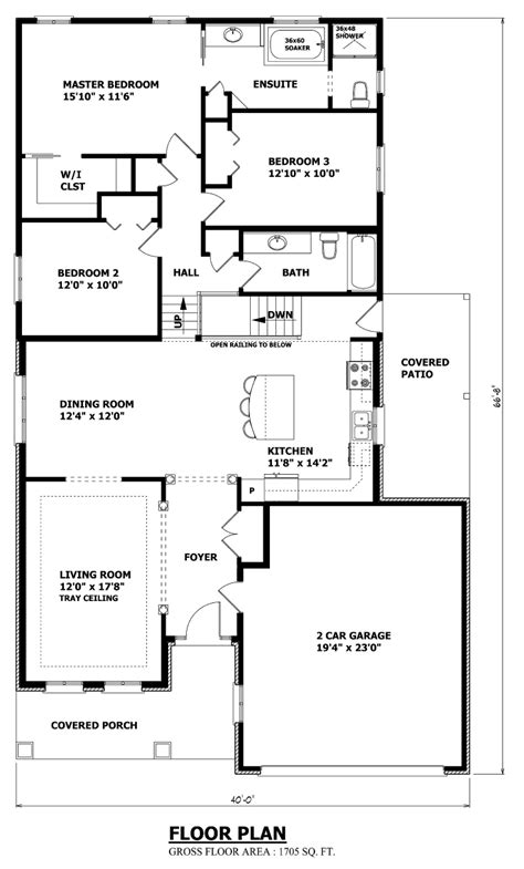 Back Split House Plans by House Plans Canada Stock Custom