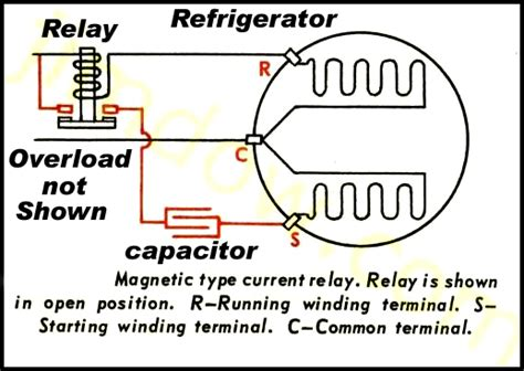 refrigerator compressor start capacitor and start relay way and four way wiring diagrams start relay start capacitor images frompo