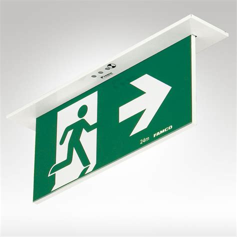 Lu Emergency Exit Led mirage led exit recessed famco