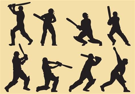 recurring pattern thesaurus cricket player silhouettes download free vector art
