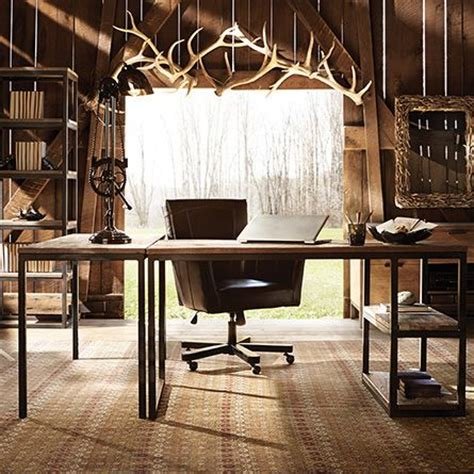 Rustic Home Office Furniture 1000 Ideas About Rustic Home Offices On Pinterest Rustic Homes Home Office And Pottery Barn