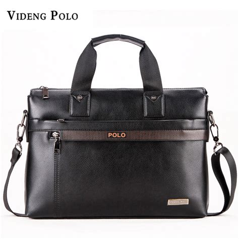 Tas Laptop Polo Wallaby videng polo briefcase brand business shoulder bag casual leather messenger bags computer
