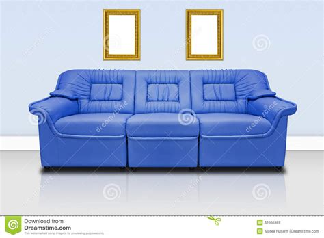 modern blue couch blue modern sofa royalty free stock images image 32666989