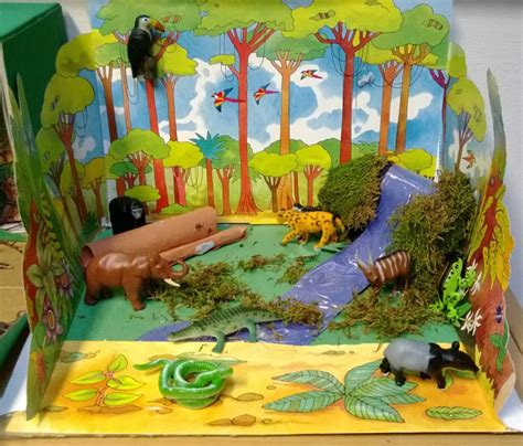 printable rainforest diorama how to make trees for rain forest diorama autos post
