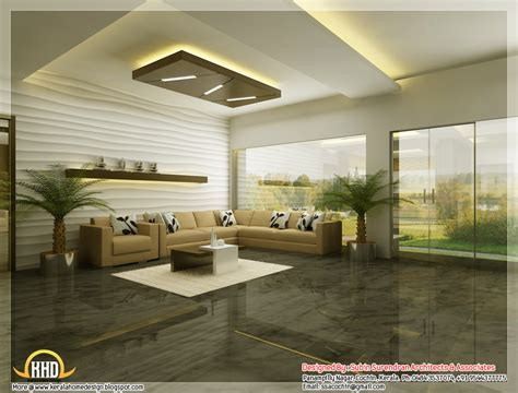 home interior designs beautiful 3d interior office designs kerala home design