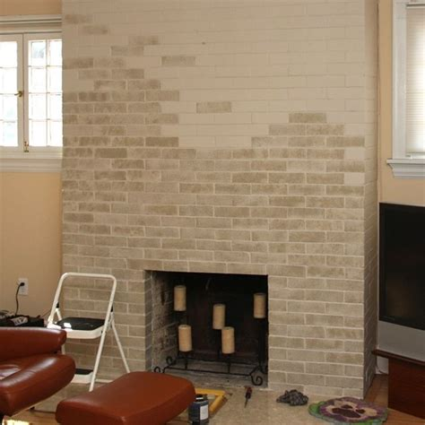 How To Update A Dated Brick Fireplace With Paint This Can You Paint Brick Fireplace
