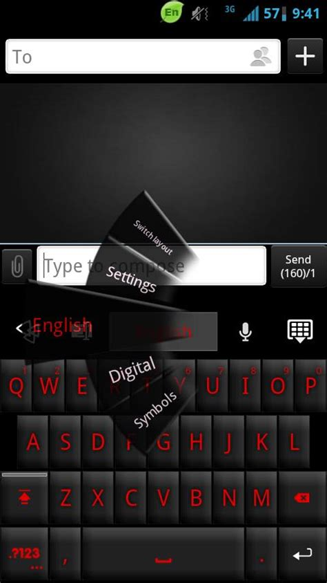 go keyboard themes not working go keyboard black red theme android apps on google play