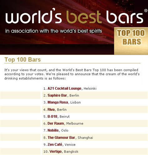 top 100 bars in the world world top 100 bars per wbb quot b018 5 quot bnl
