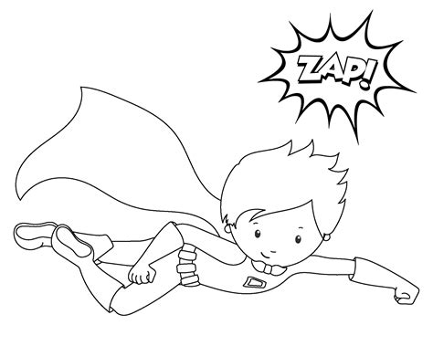 coloring page of a superhero superhero coloring pages crazy little projects