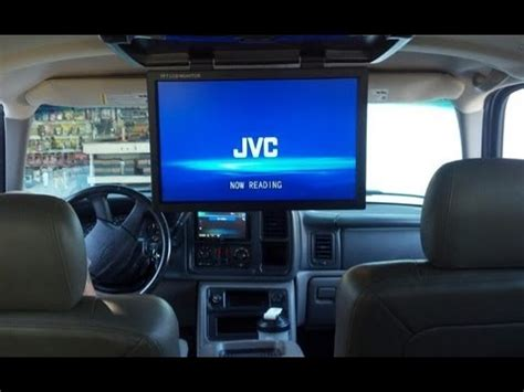 Fernseher Auto by Ps3 In Chevy Suv With 19 Quot Lcd Screen Youtube