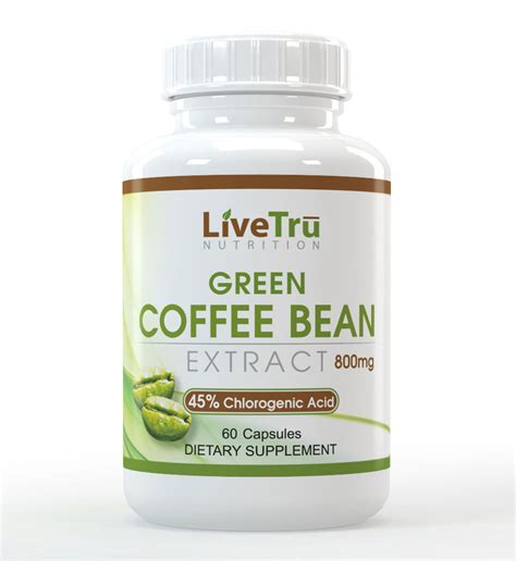 Green Coffee livetru green coffee bean extract livetru nutrition