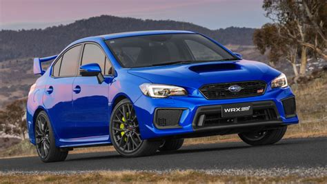 blue subaru wrx subaru wrx 2018 pricing and spec confirmed car