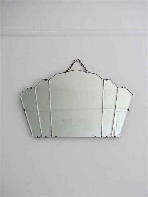 art deco fan wall mirror vintage art deco fan shape mirror ebay