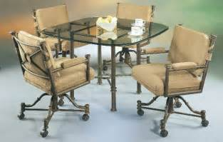 Dining Table Chairs With Wheels Dining Room Tables And Chairs With Casters