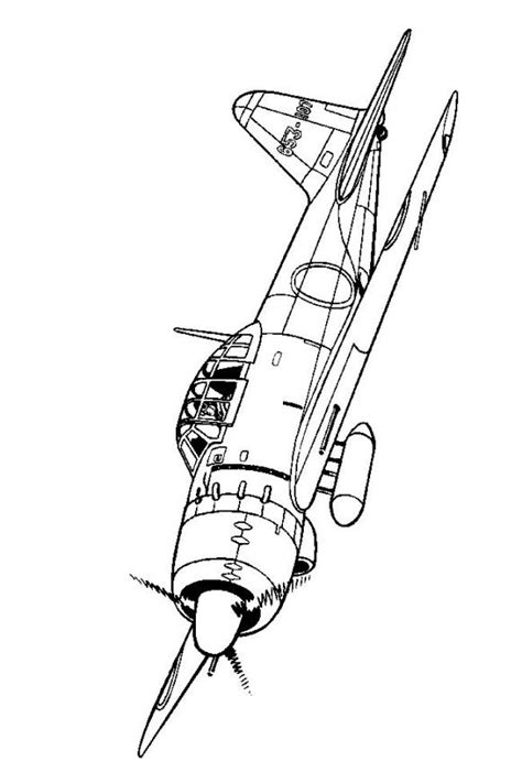 japanese zero coloring page kids n fun com 46 coloring pages of wwii aircrafts
