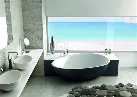 design badewanne halb freistehende badewanne halb wandstehend mastella