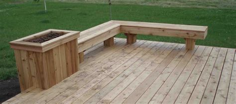 Deck Planter Bench by Cedar Deck Designs On Deck Benches Cedar Deck