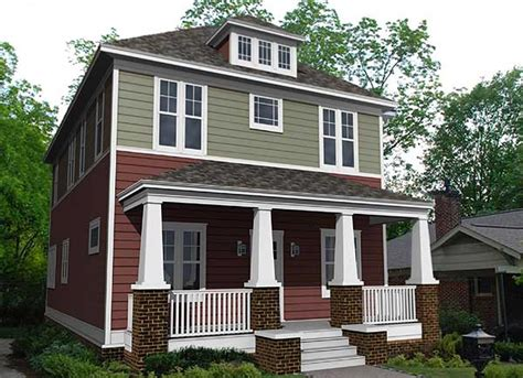 Traditional Four Square House Plan 50100ph 2nd Floor American Foursquare House Plans Addition