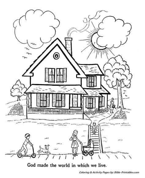 Day 7 Coloring Page by Bible Creation Story Coloring Pages Creation Day 7 God