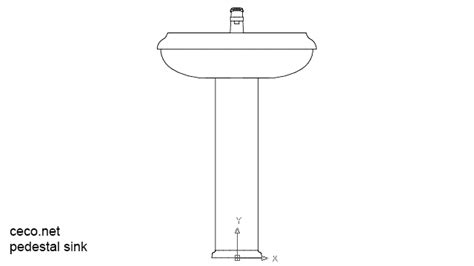 pedestal drawing autocad drawing pedestal sinks 1 front view dwg